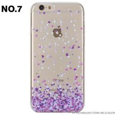 Phone Case For iPhone 5 5S SE 6 6S 7 PLUS Cute Cartoon High Quality Painted TPU Soft Cases Silicone Flower Pattern Cover Shell