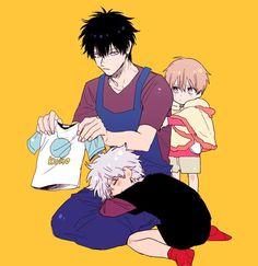 Gintama | Gintoki, Toshi, and Sougo