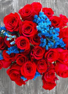 Red & Blue Bouquet
