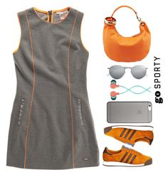 """""""Go Sporty"""" by juliehalloran ❤ liked on Polyvore featuring Superdry, adidas, Jimmy Choo, Ray-Ban, Native Union and The House of Marley"""