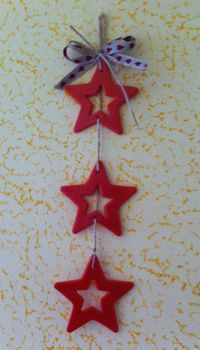 decorazione stelle in pasta di mais