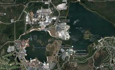 """850 acres of lakes featuring nearly 130,000 feet of shoreline are available at WDW, And that's just on """"the surface"""": Beneath the surface of the 7 largest lakes are a combined 3.122 billion gallons of water #Disney #DBTN #WDW #Disneyside"""