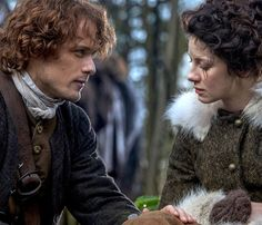 *NEW* Still of Sam Heughan and Caitriona Balfe as Jamie & Claire Fraser in Outlander