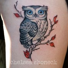 Cute owl tattoo                                                                                                                                                     More