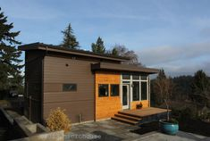 Modern backyard cottage in Seattle with one bedroom and a loft in 650 sq ft. | www.facebook.com/SmallHouseBliss