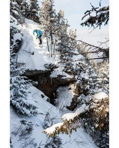 Jack Dawe aka: @wjackdawe about to pop off a little cliff in the Sugarloaf Maine backcountry. Photo: Chris Wellhausen aka: @hauc