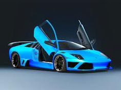 Blue Lamborghini