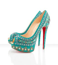 Bollywood Louboutins ... I'd totally rock these if I could walk right in heels...