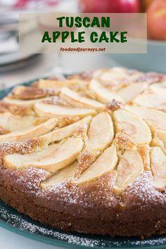 Baked Apple Dessert, Apple Dessert Recipes, Pear Recipes, Easy Desserts, Wine Recipes, Italian Recipes, Italian Torta Recipe, Easy Italian Desserts, Italian Cake