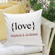 JDS Personalized Gifts Personalized Gift Couples and Love Personalized Throw Pillow