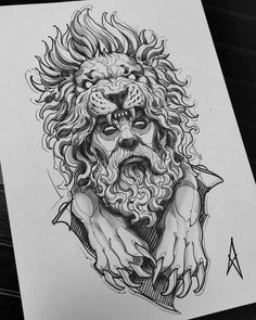 Tiger Face Tattoo, Lion Head Tattoos, Mens Lion Tattoo, Face Tattoos, Ink Tattoos, Viking Tattoo Symbol, Viking Tattoos, Chest Tattoo Sketches, Human Face Drawing
