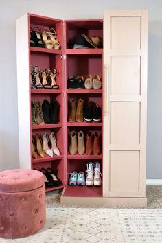 Shoe Shelves, Shoe Storage, Shoe Racks, Storage Rack, Floating Shelves, Wood Pallet Furniture, Diy Furniture Plans, Woodworking Techniques, Diy Woodworking