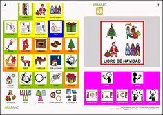 Libro de comunicación aumentativa y alternativa sobre la Navidad. Autores: J. M. Marcos y D. Romero. Pictogramas ARASAAC, elaborados por Sergio Palao.