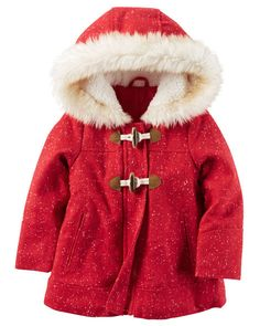 Baby Girl Wool Parka from Carters.com. Shop clothing & accessories from a trusted name in kids, toddlers, and baby clothes.