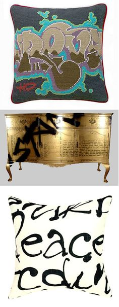 Graffitied Furniture