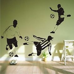 Wall Stickers Wall Decals, Contemporary Football PVC Wall Stickers 2015 – $15.99