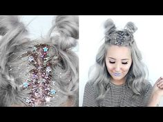 How To: Star Glitter Roots + Hairstyle! | by tashaleelyn - YouTube