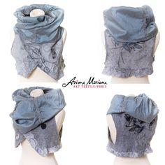 Wearable art merino wool women vest Paris by ArianeMariane