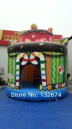 1375.00$  Buy now - http://alicgh.worldwells.pw/go.php?t=32768738848 - celebration colorful party Inflatable birthday cake bouncer