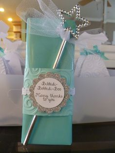 4ae63ba6f038 this goes with the previous pin posted of white bridal gown for cinderella  theme tiffany blue shower.