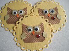 Handmade Scrapbooking Embellishments  3 Whimsical by NotJustCozies, $4.50