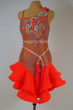 Latin Dance Dresses & Rhythm Dresses by Radim Lanik Latin Ballroom Dresses, Latin Dresses, Samba Costume, Dance Fashion, Dance Outfits, Dance Costumes, Dance Wear, Dress Collection, Crystals