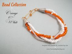 #Jewelry #Bracelet #Handcrafted #CollegiateJewelry #BigOrange ~ This bracelet would make a great gift for any woman in your life - especially for a University of Tennessee fan! For ladies who want jewelry that's as fabulous as they are, our jewelry is a fresh alternative to generic mass made pieces. Visit my shop at www.TouchedByGod.etsy.com!