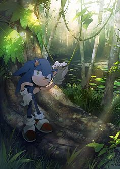 sonic0508 by aoki6311.deviantart.com on @deviantART Love the shading and thin line art.