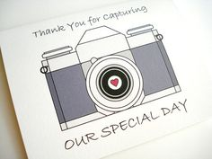 thoughtful  Wedding Photographer Thank You Card by lilcubby on Etsy, $3.95