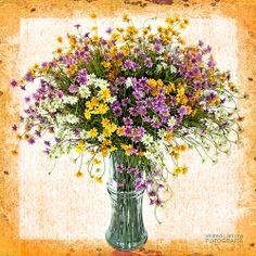 Fotografías para decorar. Ramo de flores en jarron de Wifred Llimona http://www.lallimona.com/foto/flora/
