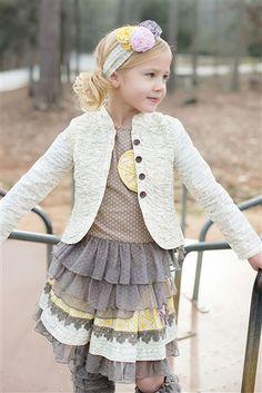 Mustard Pie Clothing - Alice Jacket in Cream Script Fall 2013
