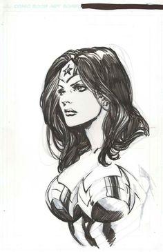 Wonder Woman by Ivan Reis -Watch Free Latest Movies Online on Comic Book Characters, Comic Character, Comic Books Art, Wonder Woman Drawing, Wonder Woman Art, Heros Comics, Comics Girls, Batman Comic Art, Batman Robin