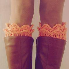 Boot Toppers Pattern Crochet PDF - Winter Accessory crochet - Lucy Leg Warmers, boot socks, boot topper, boot cuff -  PHOTO tutorial