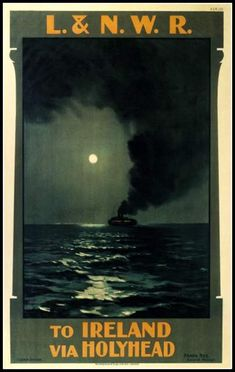 Art Print Ireland Ferry Irish 1900s - Print 8 x 10