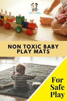 Looking for a safe surface for your baby to do tummy time, crawl, walk, and play? These baby mats are non-toxic and safe for baby use Practical Parenting, Gentle Parenting, Kids And Parenting, Parenting Hacks, Baby Play, Baby Toys, Kids Toys, Natural Baby, Natural Living