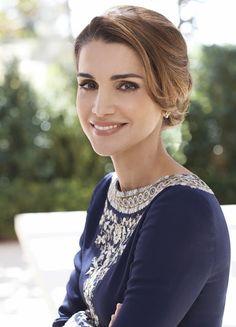Queen Rania of Jordan new official portraits