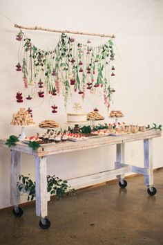 This stunning dessert bar by Jar Bakery is a sweet touch to a garden-themed wedding. Captured by Jessica Gold Photography. #bridesofnorthtx #wedding #dessert #table