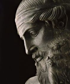 Presumed bust of Plato - Made of bronze it dates from the 1st Century BCE. Roman replica of a Hellenistic original