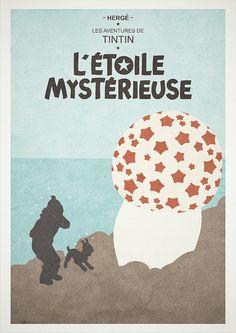 The Shooting Star - Tintin alternative poster. by H. Svanegaard, via Flickr