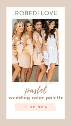 Wedding Dreams, Wedding Things, Wedding Stuff, Our Wedding, Dream Wedding, Pastel Wedding Colors, Bridal Party Getting Ready, Bridesmaids, Bridesmaid Dresses