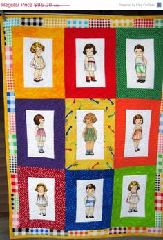 SWEET, SWEET, SWEET! Cyber Sale Sale Child's Quilt / Playmat  / Blanket/ Playset/ Fabric paper dolls with clothes
