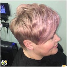 Violet gloss and disconnected short hair cut by Creative Director Tash  To see more of our work go to: https://www.sixthsensesalon.co.uk/pictures-and-videos/womens-hair-before-after/?utm_content=buffer3a102&utm_medium=social&utm_source=pinterest.com&utm_campaign=buffer  #StylistsDoItBetter #SixthSenseSalon #SuttonColdfield #Birmingham #hair #haircolour