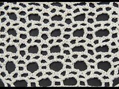 Crochet: Punto Calado Circulo - YouTube