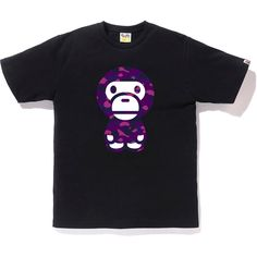 Pre-Owned Bape Color Camo Baby Milo Tee Black/purple Bape T Shirt, Camo Baby Stuff, Female Girl, A Bathing Ape, Streetwear Brands, Urban Fashion, Street Wear, Tees, Shirts