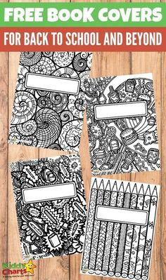 Free book covers for back to school and beyond - coloring pages for kids
