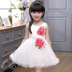 3D Elegance White #Summer #Kids #Dress