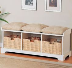 Benches With Storage Baskets