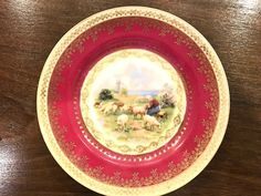 """ANTIQUE GARDNER RUSSIAN IMPERIAL PORCELAIN TWO PLATES 7"""" 