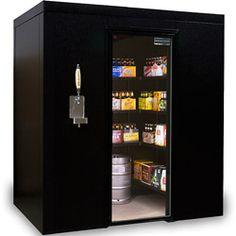 walk in refrigerator - imagine if it were hidden via being built into kitchen cabinetry :)