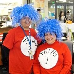 DIY Thing 1 and Thing 2 Costumes